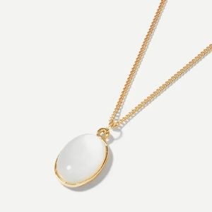 👒🕶💍❗️NEW❗️Oval Gemstone Pendant Necklace